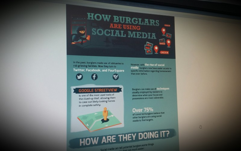 How burglars use socialmedia to rob you