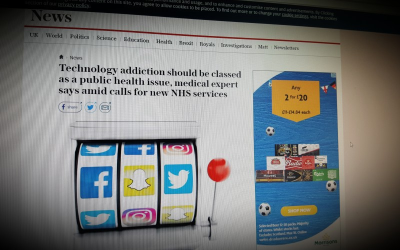 Technology addiction should be classed as a public health issue, medical expert says amid calls for new NHS services
