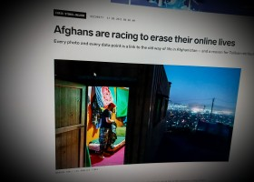 Afghans are racing to erase their online lives