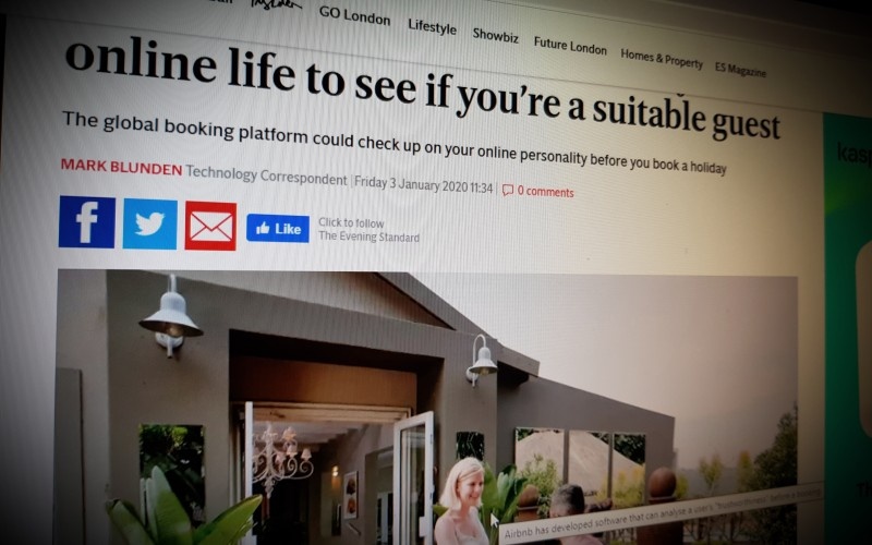 Airbnb can scan your online life to see if you're a suitable guest