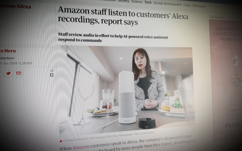 Amazon staff listen to customers' Alexa recordings, report says