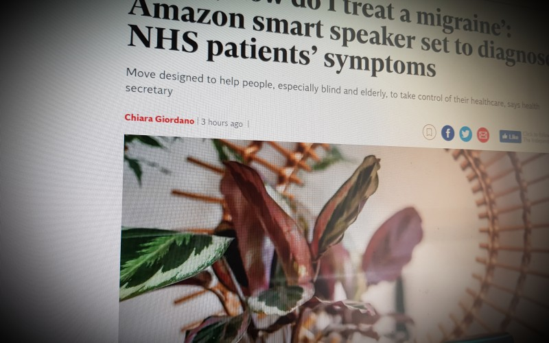'Alexa, how do I treat a migraine': Amazon smart speaker set to diagnose NHS patients' symptoms