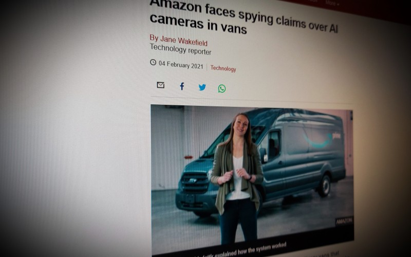 Amazon faces spying claims over AI cameras in vans