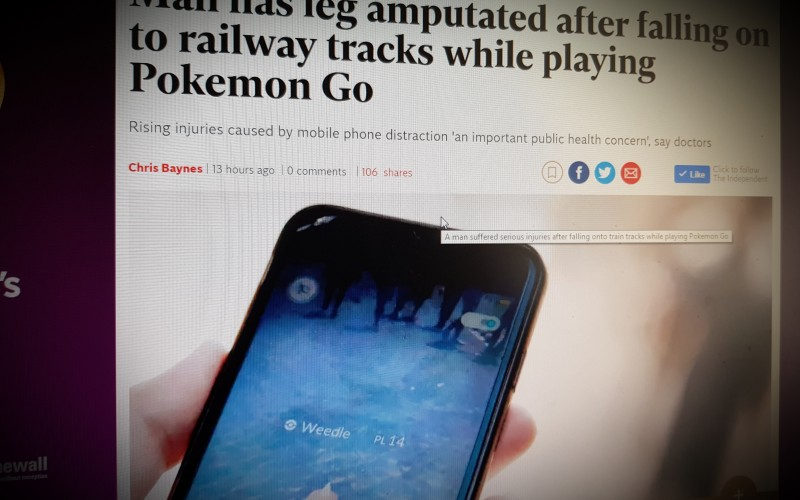 Man has leg amputated after falling on to railway tracks while playing Pokemon Go