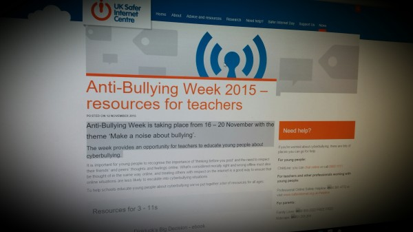 Anti-Bullying Week 2015 – resources for teachers