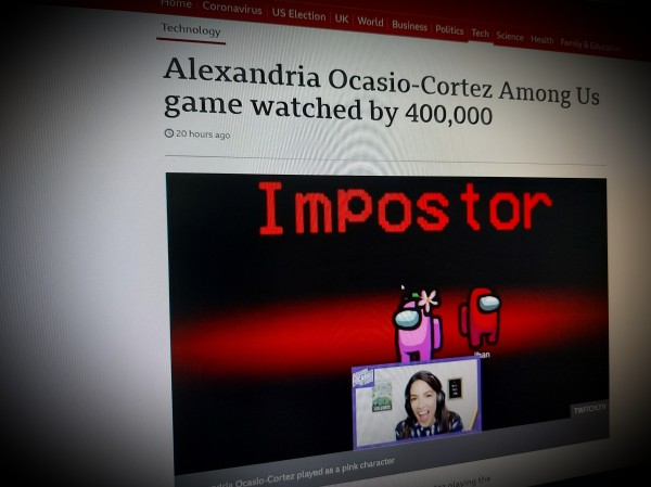 Alexandria Ocasio-Cortez Among Us game watched by 400,000
