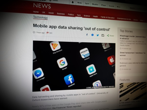 Mobile app data sharing 'out of control'