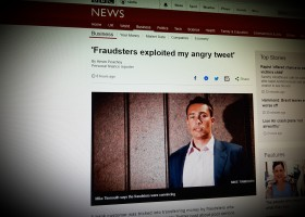 'Fraudsters exploited my angry tweet'