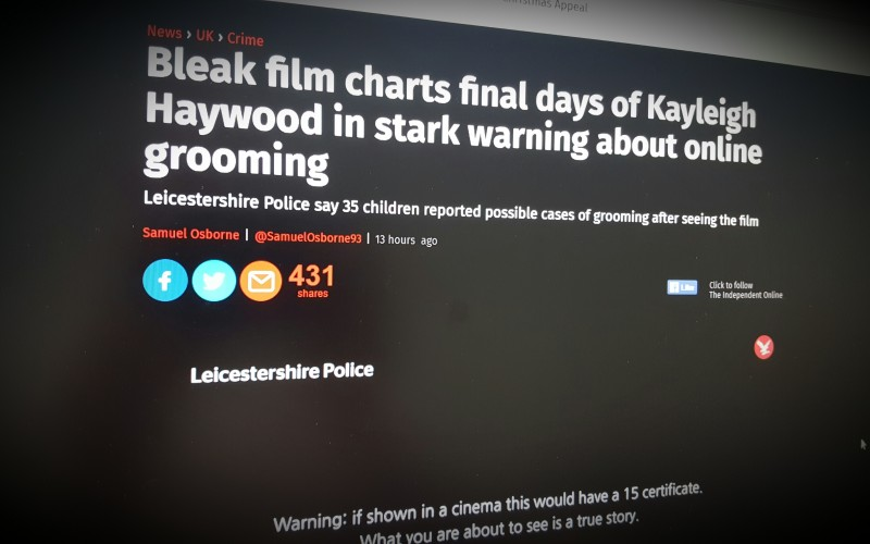 Bleak film charts final days of Kayleigh Haywood in stark warning about online grooming