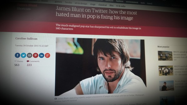 James Blunt on Twitter: how the most hated man in pop is fixing his image