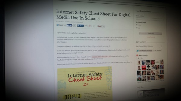 Internet Safety Cheat Sheet For Digital Media Use In Schools