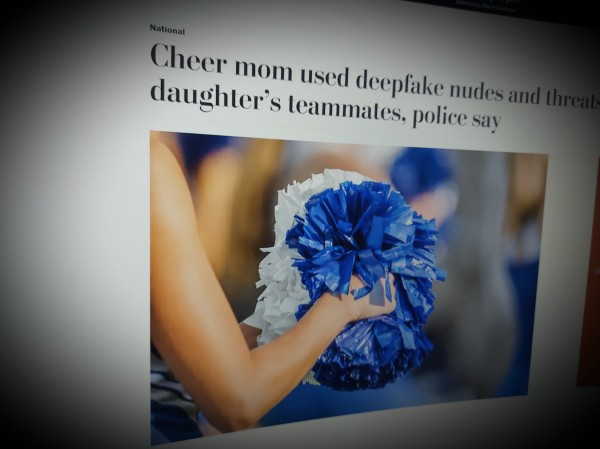 Cheer mom used deepfake nudes and threats to harass daughter's teammates.