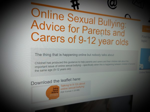 Online Sexual Bullying: Advice for Parents and Carers of 9-12 year olds