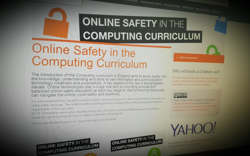 Online Safety in the Computing Curriculum