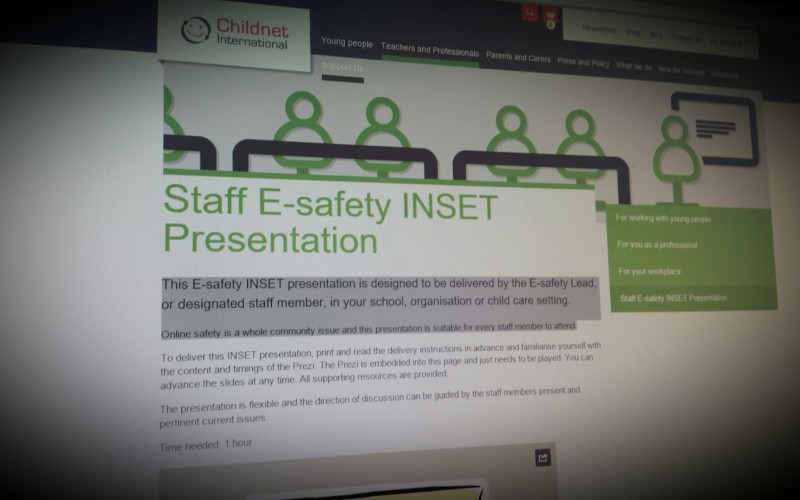 Childnet Staff E-safety INSET Presentation
