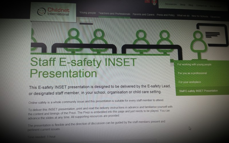 Esafety Inset Resource by Childnet