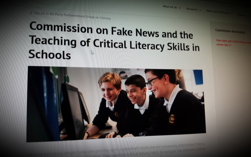 The Commission on Fake News and the Teaching of Critical Literacy Skills in Schools
