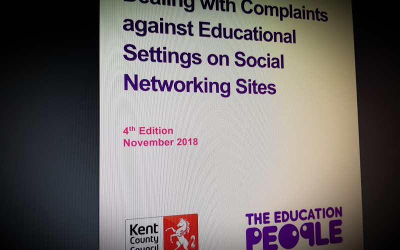 Dealing with Complaints against Educational Settings on Social Networking Sites