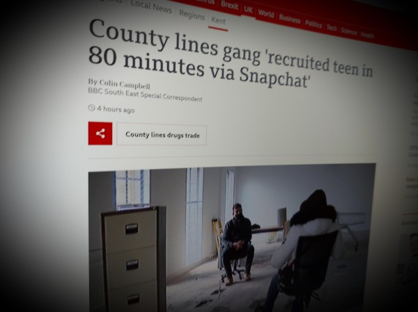 County lines gang 'recruited teen in 80 minutes via Snapchat'