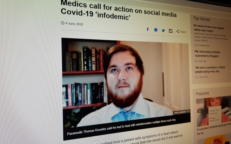 Medics call for action on social media Covid-19 'infodemic'