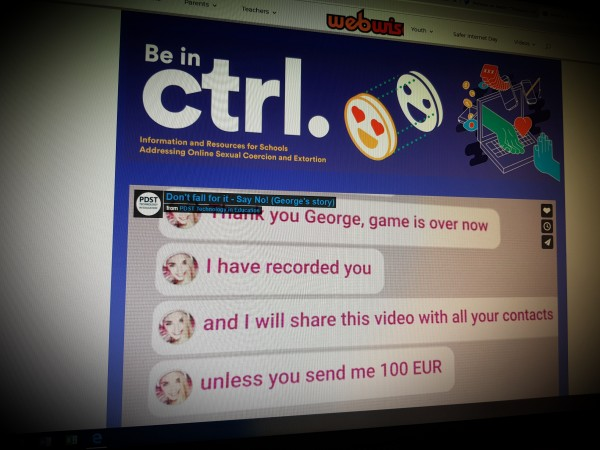 Be in ctrl. Information and resources for schools addressing online sexual coercion and extortion