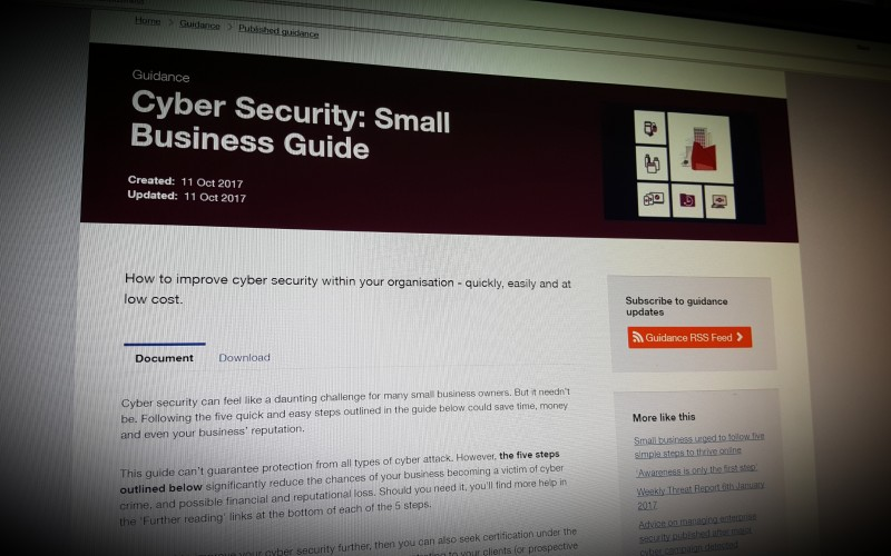 Cyber Security: Small Business Guide