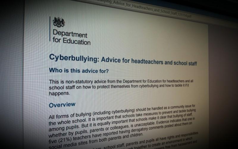 Cyberbullying: advice for headteachers and school staff