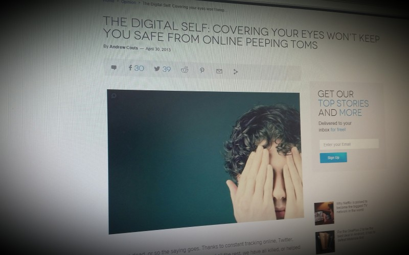 The Digital Self: Covering your eyes won't keep you safe from online peeping Toms