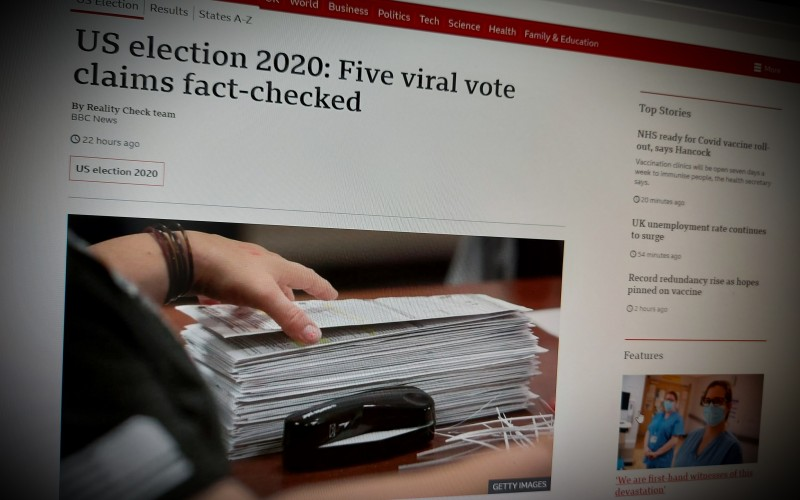 US election 2020: Five viral vote claims fact-checked