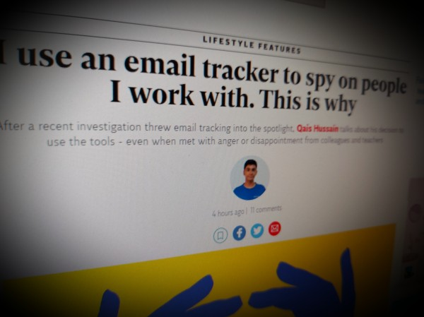 I use an email tracker to spy on people I work with. This is why