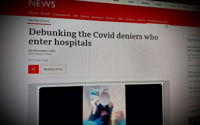 Debunking the Covid deniers who enter hospitals