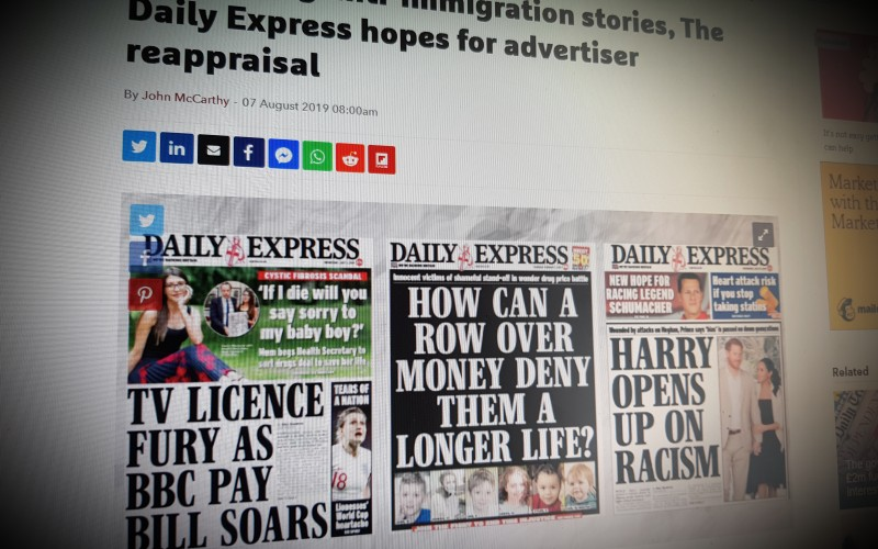 After axing anti-immigration stories, The Daily Express hopes for advertiser reappraisal