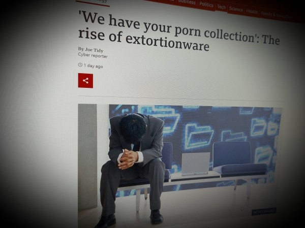 'We have your porn collection': The rise of extortionware