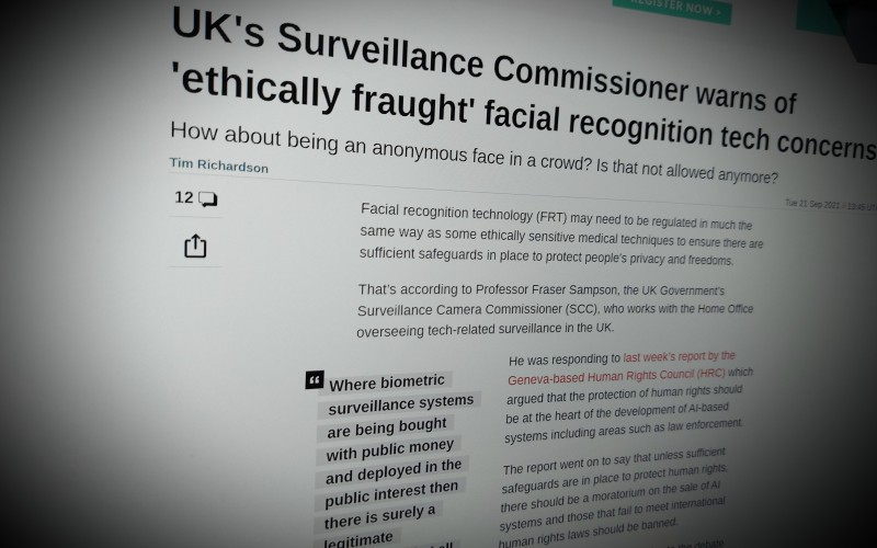 UK's Surveillance Commissioner warns of 'ethically fraught' facial recognition tech concerns