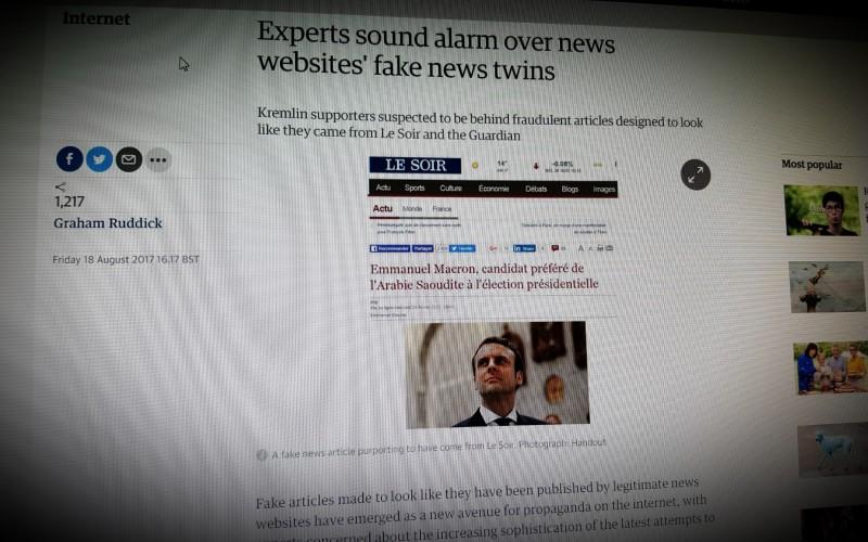 Experts sound alarm over news websites' fake news twins