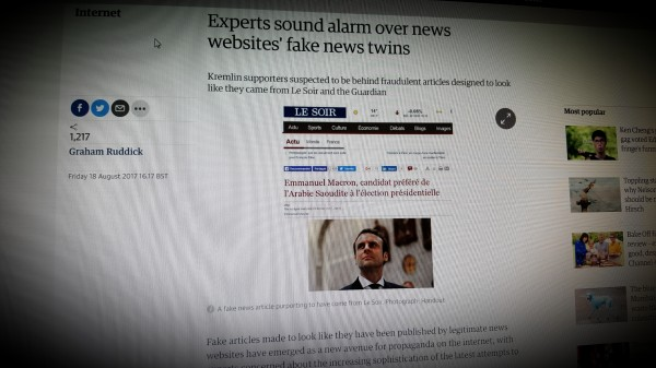 Experts sound alarm over news websites' fake news twins