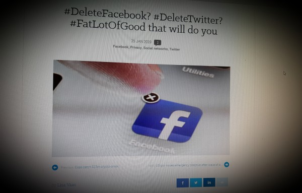 #DeleteFacebook? #DeleteTwitter? #FatLotOfGood that will do you