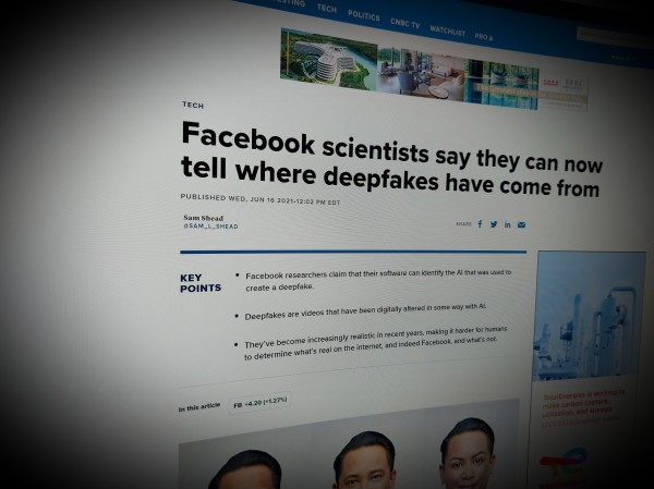 Facebook scientists say they can now tell where deepfakes have come from