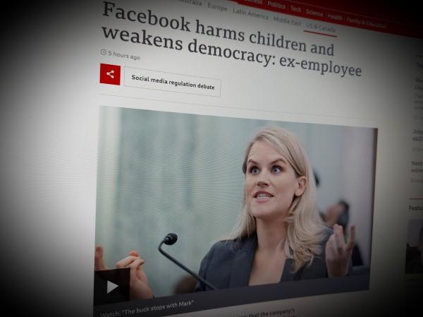 Facebook harms children and weakens democracy: ex-employee