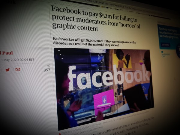 Facebook to pay $52m for failing to protect moderators from 'horrors' of graphic content