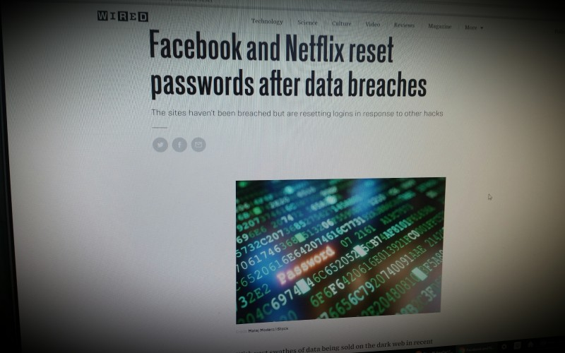 Facebook and Netflix reset passwords after data breaches