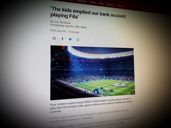 'The kids emptied our bank account playing Fifa'
