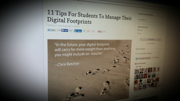 What to tell your students about managing their digital footprint