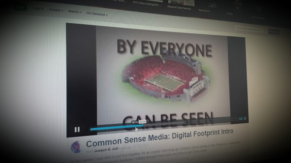 A short video introduction to your digital footprint