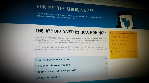 FOR ME: THE CHILDLINE APP