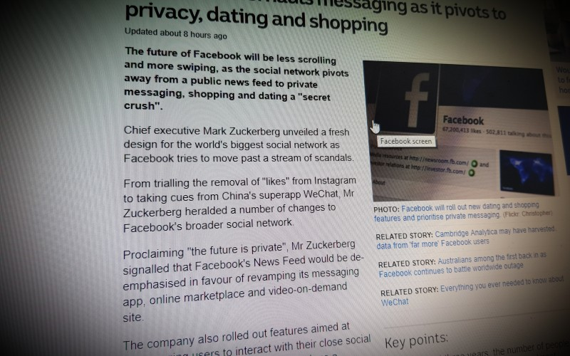 Facebook overhauls messaging as it pivots to privacy, dating and shopping