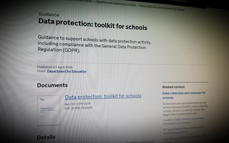 Data protection: toolkit for schools