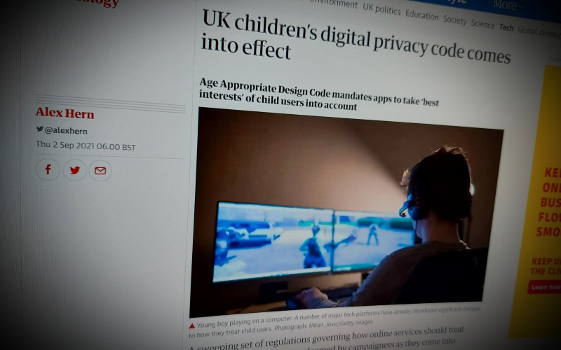 UK children's digital privacy code comes into effect