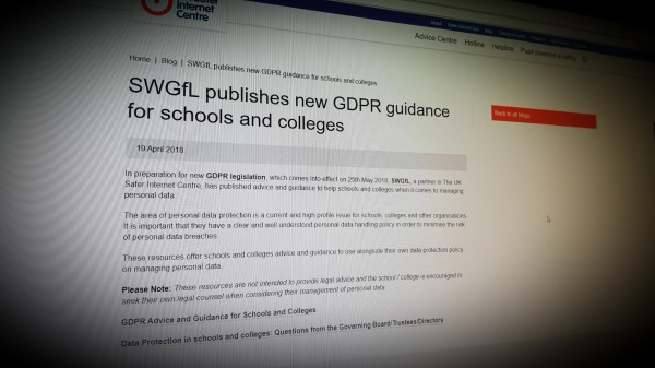 GDPR guidance for schools and colleges