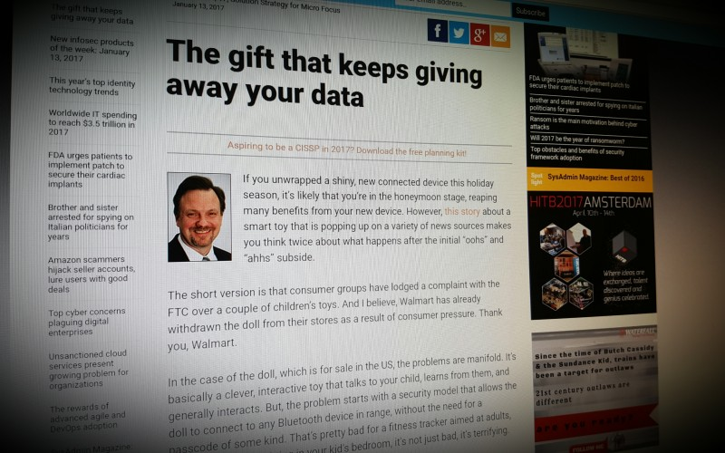 The gift that keeps giving away your data